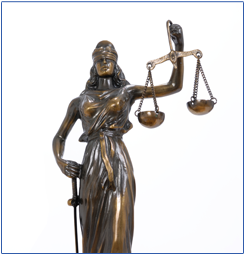 Lady Justice Holding a Sword and Scale
